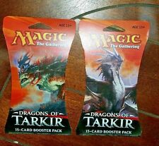 2 Brand New Magic the Gathering - DRAGONS OF TARKIR 15-card Booster Pack (2015)