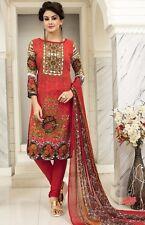 Elegant Crepe Printed Unstitched Dress Material Suit D.No GG812