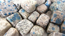 *SIX* K2 Tumbled Stone 20mm QTY6 Healing Crystal Azurite Granite