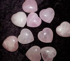 Quartz rose mariage faveur Poche Puff Heart Healing Chakra Pierre Rose Cadeau 2 cm