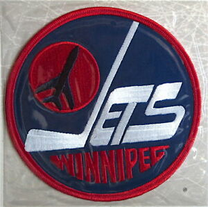 1976 WINNIPEG JETS Willabee & Ward NHL THROWBACK HOCKEY TEAM PATCH ~ Patch Only