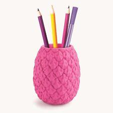 Pineapple Pen Pot Desktop Office Work Organiser Novelty Home Desk Tidy Gift Pink
