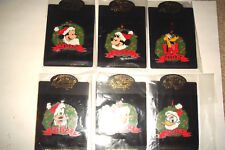 Silver Prototype Disney Auctions Holiday Wreath 2002 Christmas Set of 6 LE 4!