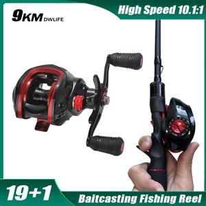 Baitcasting Reel 8KG Max Drag 19+1 Bearings Freshwater Saltwater Fishing Reel