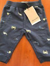 MinyMo (Denmark) Nwt Blue Cotton Knit Spider Pants- Newborn-1 Month