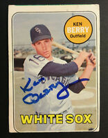 Ken Berry White sox signed 1969 Topps baseball card #494 Auto Autograph