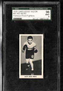1938 JACK KID BERG SGC 9 Mint T F.C. Cartledge Famous Prize Fighters # 43