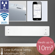 ADAX CLEA WHITE WIFI 800W Home Automation Glass Electric Wall Heater / SKIRTING