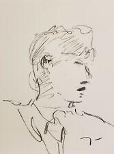 JOSE TRUJILLO Original Charcoal - Paper Sketch Drawing 9X12 PORTRAIT NEW ART 004