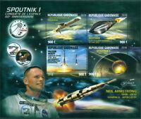 Space Sputnik Falcon Heavy Armstrong Apollo 11 Pegasus Gabon MNH stamp sheet