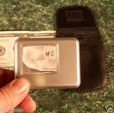 """5x SQUARE Portable MAGNIFIER GLASS with LIGHT and CASE Batteries Included 2-1/4"""""""