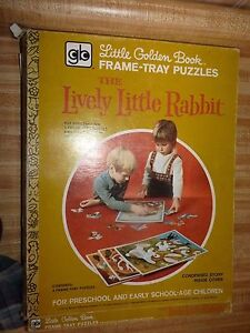 Little Golden Book Large Frame Tray Puzzle Box Set of 4 ~ Lively Little Rabbit