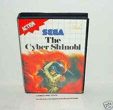 JEU SEGA MASTER SYSTEM COMPLET THE CYBER SHINOBI