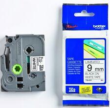 2 Stück Schriftbandkassette Brother 9mm TZe-221 schwarz auf ws tape