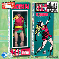 DC Comics Removable Mask Robin 8 inch Action Figure in Mego Style Retro Box