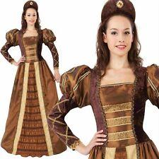 Femmes Doré Reine Tudor Elizabeth Costume Médiéval Déguisement Femmes Trône