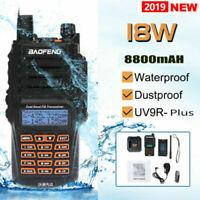 Baofeng UV-9R Plus 18W 8800mAh Walkie Talkie Waterproof Long Range Rechargeable