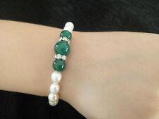 Bracelet de perles  naturelles d'eau douce 7-8 mm blanche