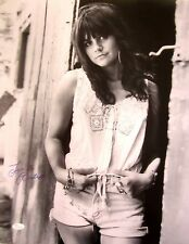 Linda Ronstadt autographed signed auto 16x20 inch B&W poster size photo JSA COA