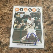 Travis Denker Signed 2008 Topps Update Auto San Francisco Giants