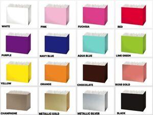 "MEDIUM SOLID Color Gift Basket BOX Size 8-1/4""x4-3/4""x6-1/4"" Choose Color"