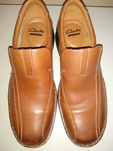 Clarks Collection Soft Cushion Ortholite Men's Brown 8 Slip On