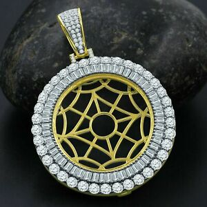 Men's Pendant The Gold Web Fashion 14k Yellow Gold Finish 925 Sterling Silver