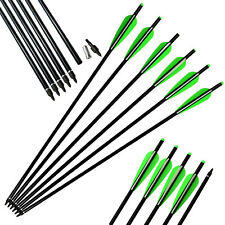 """12Pcs 16"""" Aluminum Crossbow Bolts Hunting Moon Knock Archery Outdoor Sport Game"""