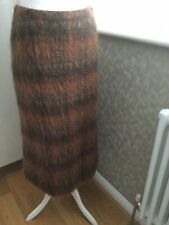 Hobbs Rust Wool Mohair Blend Long Skirt UK 10 VGC