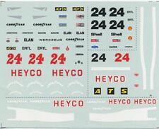 "Modellismo 90 1/43 Decal sheet Hesketh 308D F.1 Ford 1976 ""Heyco"" Ertl NEW"