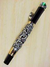 Jinhao lujo pen bolígrafo ALT plata Dragon verde perlas Roller rollerball nuevo + estuche