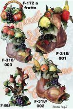 Scarpone con frutta medio - art.F-318/002 - Capodimonte Porcellane Carusio