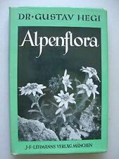 Alpenflora von Dr. Gustav Hegi Alpenpflanzen Bayern Österreich Schweiz 1937