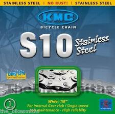 KMC S10 INOX Stainless Steel Bike Chain Dropbuster Single Speed BMX Track Fixed