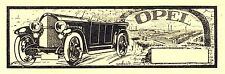 OPEL Cabrio insegne ckochy Mainz originale di 1921