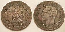 Napoléon III, 5 Centimes 1855 D Lyon, ancre, TTB & Rare !!