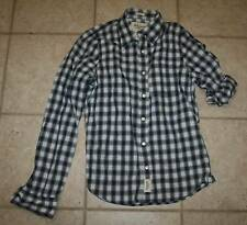 NWT Abercrombie & Fitch Mens Large Button Front Muscle Fit Shirt