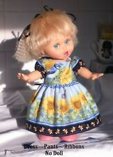 Dress with sleeves, no collar. Fits Galoob Baby Face dolls (NO DOLL) See details