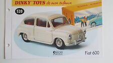 Dinky Toys Atlas - Fascicule SEUL de la Fiat 600 (Booklet only)
