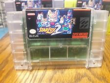 Super Nintendo NEW VERSION Starfox 2 Clear Cart Only. Professional vinyl label.