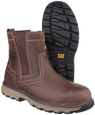Caterpillar CAT Pelton S1p Safety BOOTS - Dark Beige Size 9