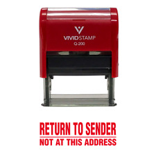 Return to Sender Not At This Address Self Inking Rubber Stamp