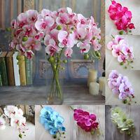 1x Orchidee Phalaenopsis Künstliche Blumen Kunstpflanze Kunstblume Blume Deko