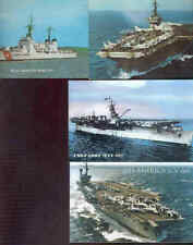 pc8390 postcard Us Aircraft Carier + 2 other ships Four all Mobsc