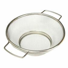 Stainless Steel Fine Mesh Strainer Bowl Drainer Vegetable Sieve Colander G4E9
