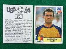 USA 94 1994 n 85 GHEORGHE HAGI ROMANIA , Figurina Sticker Panini (NEW)