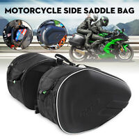 Pair Motorcycle Pannier Side Saddle Bag Package Luggage Pouch Waterproof