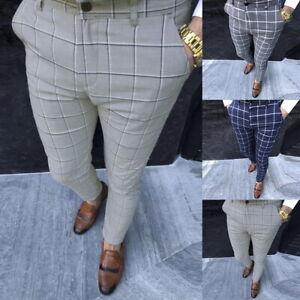 Herrenhose Digitaldruck Slim Fit Businesshose Karierte Hose Herrenhose H/J