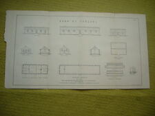 Architectural Sketch plan de soldats bâtiments du camp de Chalons c.1870's GC