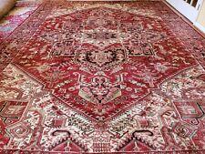 New listing 10 x13 or 9.7 x13.1 Vintage Fine Heriz Rug Antique Serapi Kazak Oushak Caucasian